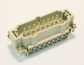 16 Position 16 Amp Male Insert