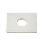 "INSULATOR PLATE WITH LOCATING RING HOLE  9.875 WIDTH X 8.000    1/4"" THICKNESS"