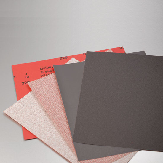RED SILICON CARBIDE PAPER 220 GRIT  50PC