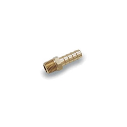 HOSE BARB, MALE, BRASS FOR 3/8 ID HOSE, 1/4 PIPE