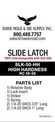 ROLLER SLIDE LATCH, HEAVY, UP TO 50 LBS.