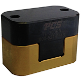 RADIUS TOP LOCK - GOLD & BLACK  MATCHED SET   1.250 WIDE X 1.125 HIGH