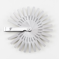 Metric Feeler Gage Set 25 blades, 12.7mm wide, tapered to 6.35mm and 76mm long